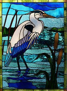 Image result for crane stained glass pattern