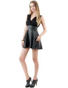Doublju Womens Fashionable Contrast Black Dress REVIEW