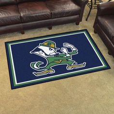 Notre Dame Fighting Irish Leprechaun 4' X 6' Decorative Ultra Plush Area Rug