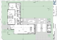 Small Modern House Plans, Small House Design, Model House Plan, House Layouts, Building Plans, House Floor Plans, Beautiful Interiors, How To Plan, House Styles