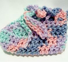 A simple, quick preemie bootie pattern with ties that works wonderful for charity projects. Easy to use, make a variety of preemie sizes with different yarn weights and hooks.
