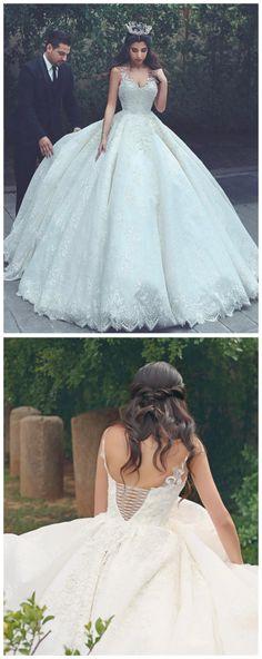 2017 wedding dress, white wedding dress, ball gown, bridal dress ...
