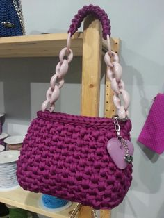 Lovely little crochet bag:)