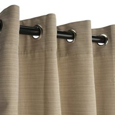 Sunbrella Outdoor Curtain with Grommets Nickle GrommetsDupione Sand * Visit the image link more details.
