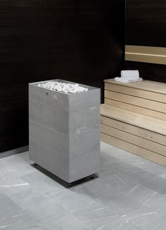 Tuisku XL is a soapstone-clad electric sauna heater suitable for even large saunas.