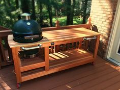 Big Green Egg Table   by Beautiful Wood
