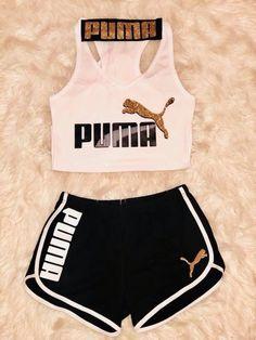 a44b7e74 Conjunto da Puma Ropa De Ejercicio, Moda Fitness, Ropa De Verano, Ropa Linda