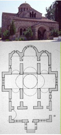 Skripou (Béotie), Eglise de la Dormition, 873-874 : transition entre la…