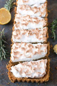 Lemon Rosemary Meringue Tart | cakenknife.com #dessert