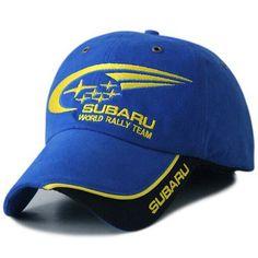 24a45b395f0 2016 Outdoor Men SUBARU F1 Racing Cap Cotton Male Sports Motorcycle Racing  Baseball Caps Car Sun Hats Blue