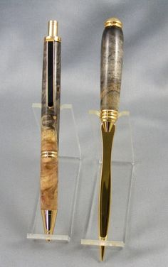 Tiger Stripe Acrylic Handmade Over Under Shotgun Pen