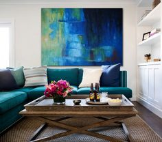 SILKY BLUE [598700] - $399.00 | United Artworks | Original art for interior design, buy original paintings online