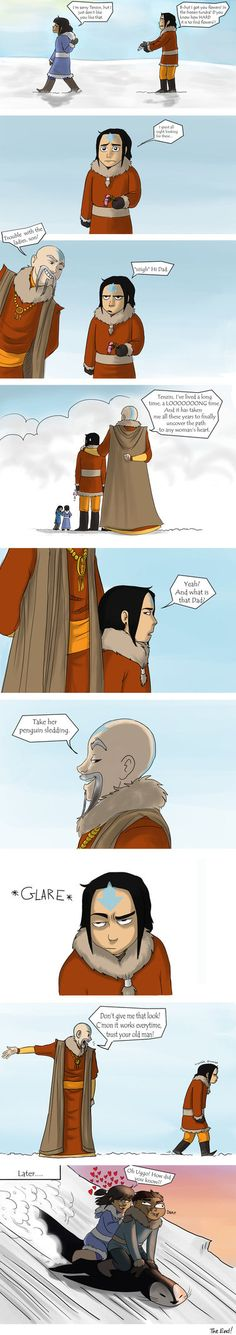 I swear I burst out laughing when I saw the ending! For once I actually accepted Katara x Aang.