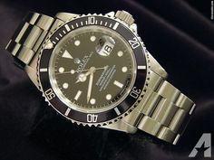 Rolex Stainless Steel Submariner Date Watch Black