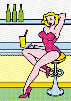 PinUp café • http://italiano.istockphoto.com/stock-illustration-46734044-pin-up-cafe.php?st=23cde0b