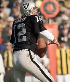 Best Player by Position Not in Hall of Fame - Quarterback: Ken Stabler - In 10 seasons with the Raiders, two with the Oilers and three with the Saints, Stabler completed 2,270 of 3,793 passes for 27,938 yards and 194 touchdowns, with 222 interceptions. He was a four-time Pro Bowl pick and a one-time, first-team All-Pro selection. He was a Hall of Fame finalist in 1990, 1991 and 2003.