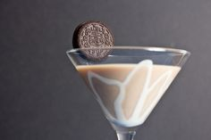 Double Stuf Oreo Martini -- would it be wrong for me to say that drinking this with  good friends would be a combination of all of my favorite things?