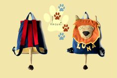 Luna/lion/handmade in Italy/for child/one piece/home fabrics/eco-leather,