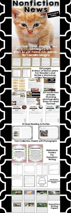 This 139 page product is what you need to implement ELA Common Core Standards in your classroom. It includes 24 nonfiction articles for close reading on baby animals and the animal: Puppies, Puppy Fun Facts, Hedgehog Hoglets, Hedgehogs, African Elephant Calves, Elephants, Panda Cubs, Panda Bears, Piglets, Pigs, Polar Bear Cubs, Polar Bears, Giraffe Calf, Giraffes, Sea Lion Pups, Sea Lions, Koala Joeys, Koala Bears, Lambs, Sheep, Deer Fawn, Deer, Kittens, and Cats.