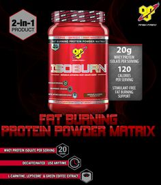 ISOBURN by BSN is HERE! Isoburn: Each serving provides 20 grams of Whey Protein Isolate along with a powerful blend of Green Coffee Extract, L-Carnitine, and Lepticore. Fat Burning Smoothies, Fat Burning Detox Drinks, Muscle Weight, Muscle Food, Fat Burning Cream, Tight Abs, Green Coffee Extract, Fat Burning Supplements, Muscle Protein
