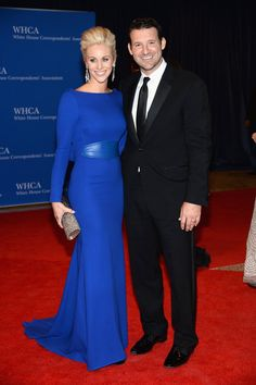 Pin for Later: Stars Set DC Aglow at the White House Correspondents' Dinner  Tony Romo and his wife, Candice Crawford, walked the red carpet together.