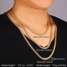 Details: Material Type: Gold Plated or Platinum Plated Chain Length: - Chain Type; Snake Chain Clasp Type: Lobster Package Content: 1 chain necklace, paper card, OPP bag, silk pouch (gift) Shipping is business days. Check our Exclusive Golden Collection Gold Platinum, 18k Gold, Short Necklace, Gold Necklace, Snake, Plating, Pouch, Rose Gold