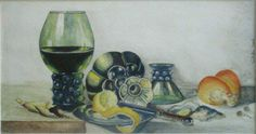 Seicento  2001 (11 x 20 watercolor on paper) https://www.facebook.com/Riflessi-e-trasparenze-di-Germana-Galdi-152645784768295/