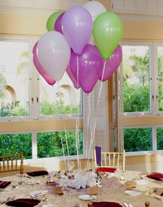 WeddingChannel Galleries: Balloon Centerpieces for Kid's Table