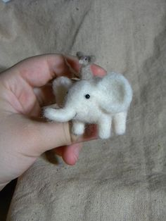 The Best Friends  needle felted ornament animal by feltingdreams, $38.00