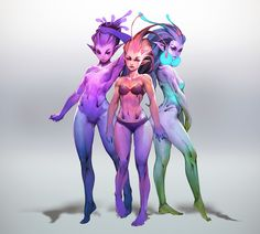 Alien Character, Female Character Design, Character Design Inspiration, Character Concept, Character Design References, Character Art, Alien Creatures, Fantasy Creatures, Mythical Creatures