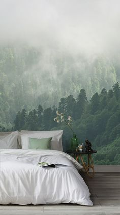 The Murals Wallpaper collection of misty forest wallpapers will fill your home with a tranquil aura and allow you to create a moody ambiance. From crisp morning mist in a rainforest setting to melancholy Scandinavian forests, these prints will bring Mother Nature's beauty right into your home. #wallpaper #murals #wallmurals #interior #interiordesign #design #home #homedecor #interiordecor #accentwall #inspiration #Ihavethisthingswithwalls