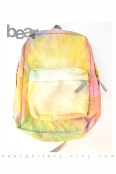 Custom JanSport Backpack- Hand Painted Pastel Wash Painting Backpack 0473f549856e6