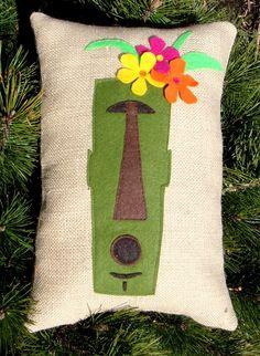 Mr. Tiki Head Pillow