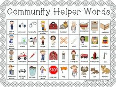 Community Helper - Writing Words