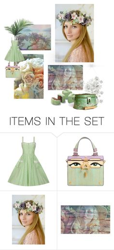 """She wore a Crown of Flowers"" by dorataya ❤ liked on Polyvore featuring art"