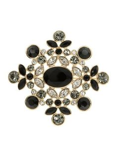Givenchy Faceted Crystal Pin Women's Gold