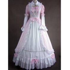 Pink White Victorian Gothic Lolita Wedding Ball Gowns Prom Dresses SKU-303060