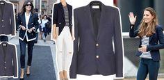 Klasyk na lato – granatowa marynarka Duster Coat, Suit Jacket, Breast, Suits, Jackets, Fashion, Down Jackets, Moda, Fashion Styles