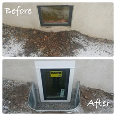 Thinking about starting your home updates before the Spring? We install all year round!  The cold weather and snow is not an obstacle for your egress window installation. Do you have an existing window that does not meet egress code? If so, no worries, we can fix that!! Egress Window, Window Well, Basement Windows, Lake Cottage, Window Styles, Diy Stuff, Cold Weather, Home Remodeling, Backyard