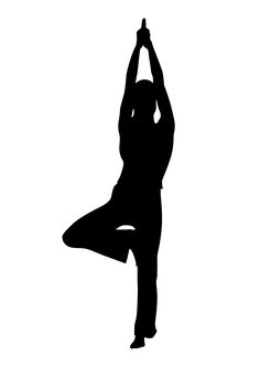 20 best yoga silhouettes images  yoga poses silhouette