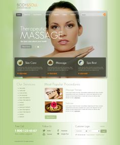Body & Soul Professional Body Care Joomla Template by Dynamic Template