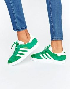 new york 1ac85 ff4c4 Adidas Originals Forest Green Suede Gazelle Sneakers Adidas Gazelle Women,  Adidas Shoes Women, Adidas