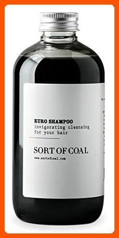 Sort of Coal - Kuro Activated Charcoal Shampoo (500ml / 16.9 oz) - Fun stuff and gift ideas (*Amazon Partner-Link)