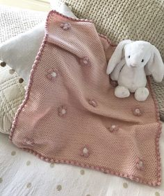 Crochet Baby Girl Flower Baby Blanket - Crochet a beautiful flowery baby blanket with Kate Eastwood in this step by step photo tutorial! A perfect gift for a new baby, or a cosy cuddle for little ones! Crochet Blanket Patterns, Baby Blanket Crochet, Baby Patterns, Crochet Baby, Free Crochet, Knit Crochet, Love Knitting, Baby Knitting, Easy Baby Blanket