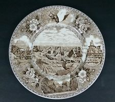 Grand Canyon Point Sublime Utah Zion Old English Staffordshire Ware Plate