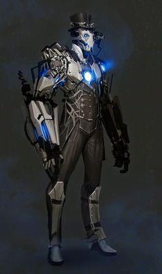 Steampunk Iron Man By Anthony Jones: Robots Steampunk, Steampunk Armor, Steampunk Clothing, Iron Man Kunst, Iron Man Art, Concept Art World, Robot Concept Art, Game Concept, Character Concept
