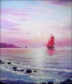 Юрий Анохин Sea Art, Sailor, Pirates, Nautical, Natural Landscaping, Landscapes, Candles, Navy Marine, Ocean Art