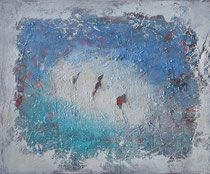 traces of the past - las huellas del pasado  técnica mixta sobre lienzo 54 x 65 cm Dory, The Past, Painting, Future, Foot Prints, Canvases, Past Tense, Future Tense, Painting Art