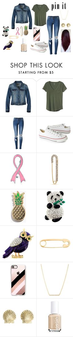 """""""Pins With Personality"""" by kbnorris on Polyvore featuring prAna, Gap, WithChic, Converse, Bling Jewelry, Madewell, Bamboo, True Rocks, Casetify and Kate Spade"""