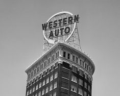 Kansas City Western Auto Building Sign  Fine Art by visualjourneys